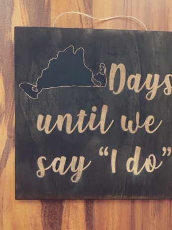 Custom Wedding Countdown
