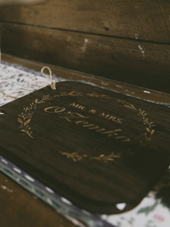 Custom Guest Book with Greenery