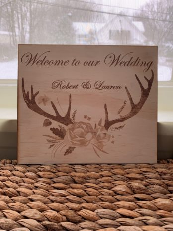 Welcome to our Wedding Sign w/Antlers