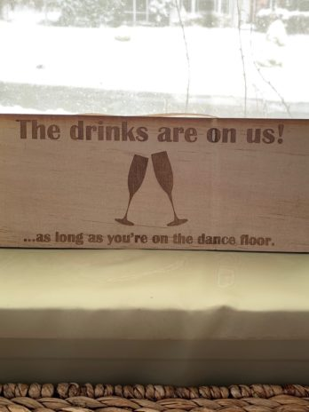 The drinks are on us…