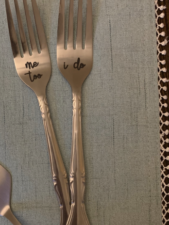 Custom Wedding Fork Set