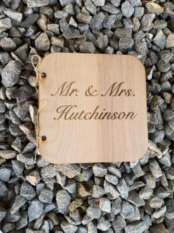 Mr. & Mrs. Custom Guest Book