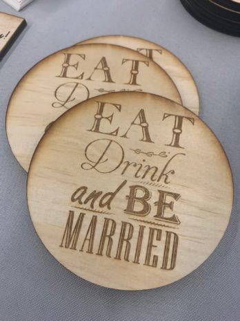 Eat, Drink, & Be Married Coasters (4)