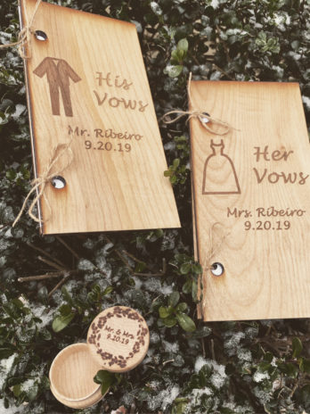 Custom Wooden Vow Book Set II