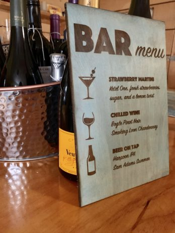 Custom Bar Menu – Wooden Sign