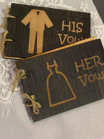 Wooden Vow Book Set