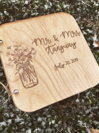Custom Guest Book with Mason Jar