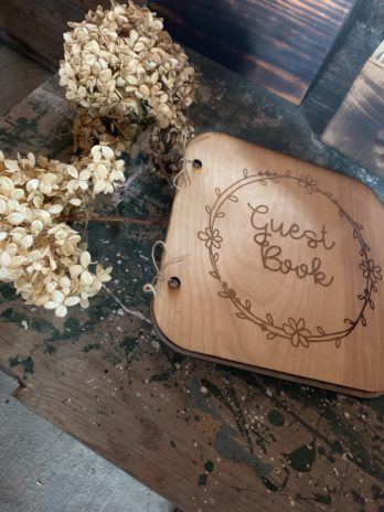 Guest Book with Floral Accent