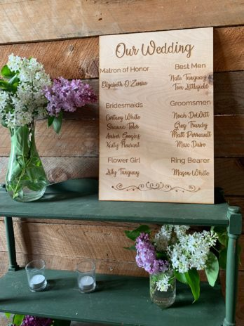 Wedding Details Sign