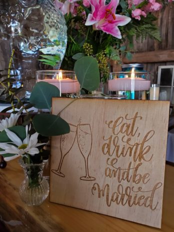 Eat, Drink, & Be Married Sign