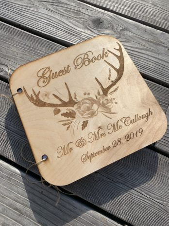Custom Guest Book with Antlers