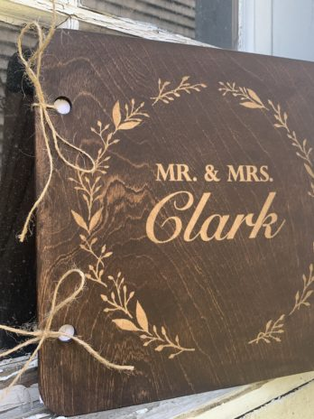 Custom Wooden Guest Book