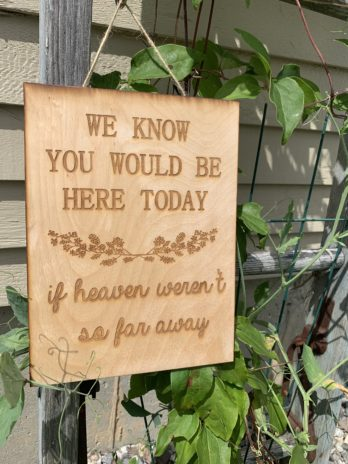 Memory Sign ~ We know you would be here today, if heaven weren't so far away.