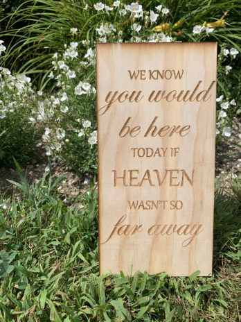 Memory Sign ~ We know you would be here today.