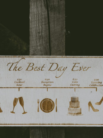 Wooden Wedding Day Timeline Sign